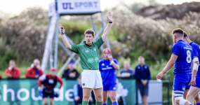 Referee Uys in Ireland