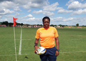 An aspiring international referee from St Lucia